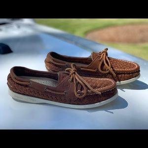 Sperry Women Papaya Woven Boat Shoe - Sz. 7